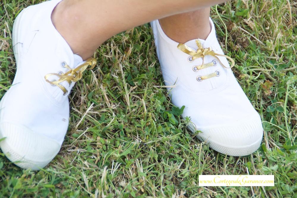 lacets dorés