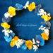 Couronne Amalia: Jaune, blanche et bleue
