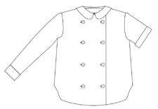 Patron de chemise Alphonse: double boutonnage et col claudine