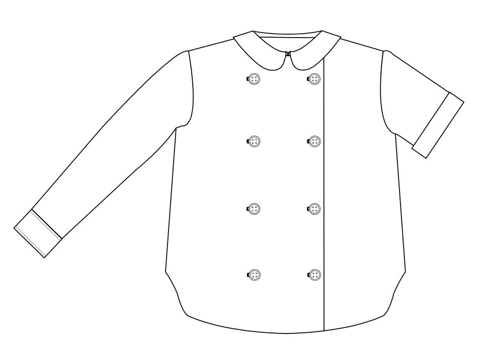 chemise double boutonnage