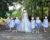 Cortège Guillemette: Robe empire en plumetis et short court