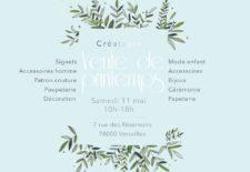 Vente de créateurs à Versailles, le 11 mai