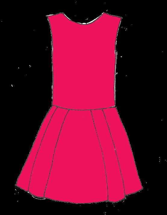 Robe taille basse et jupe à plis plats