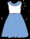 Col volanté et dos boutonné: la robe Iris !