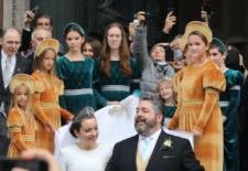 Mariage orthodoxe du grand-duc George de Russie et de Victoria Romanovna Bettarini